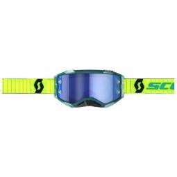 Occhiali motocross Scott Fury MX Enduro blu giallo fluo,Occhiali Motocross