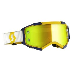 Motocross goggles Scott Fury MX Enduro yellow blue,Motocross Goggles