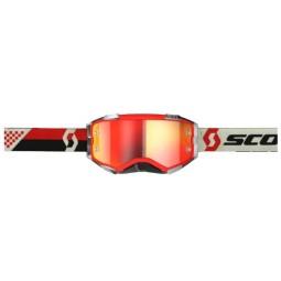 Occhiali motocross Scott Fury MX Enduro rosso nero,Occhiali Motocross