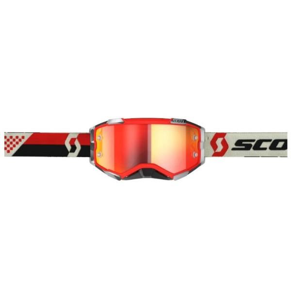 Motocross brille Scott Fury MX Enduro rot schwarz