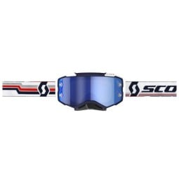 Lunettes motocross Scott Fury MX Enduro bleu blanc,Masque et Lunettes Motocross