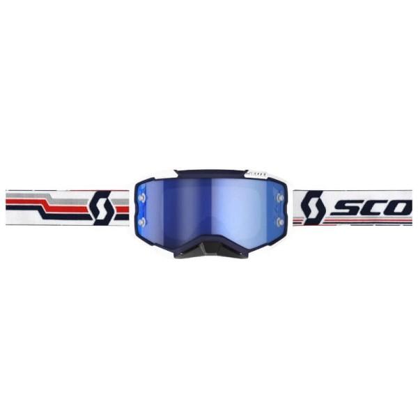 Lunettes motocross Scott Fury MX Enduro bleu blanc