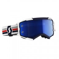 Motocross brille Scott Fury MX Enduro blau Weiss
