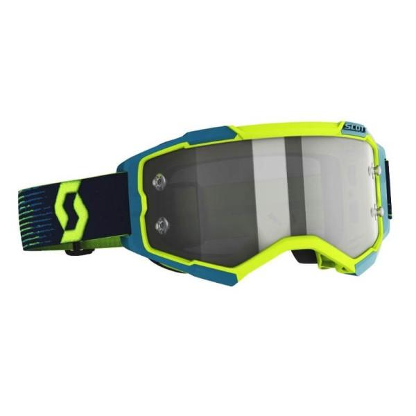 Motocross brille Scott Fury LS MX Enduro gelb blau