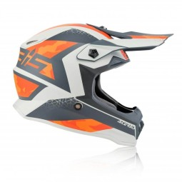 Motocross junior helmet Acerbis Steel orange grey