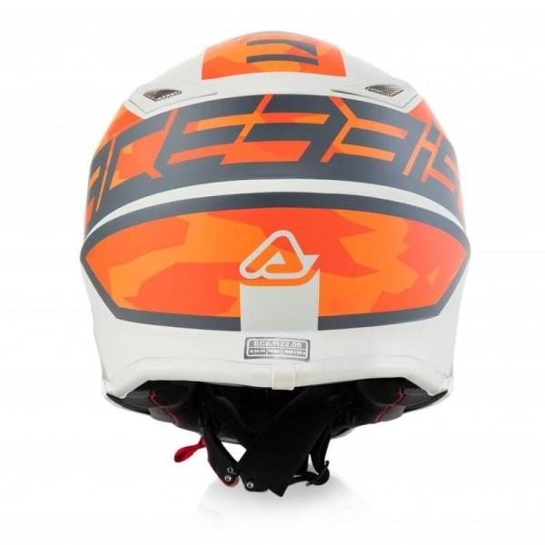 Casque motocross enfant Acerbis Steel orange grey