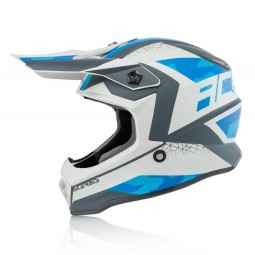 Motocross kind helm Acerbis Steel blue grey
