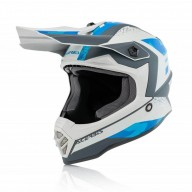 Motocross kind helm Acerbis Steel blue grey