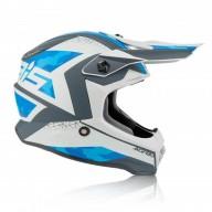 Casco motocross niño Acerbis Steel blue grey