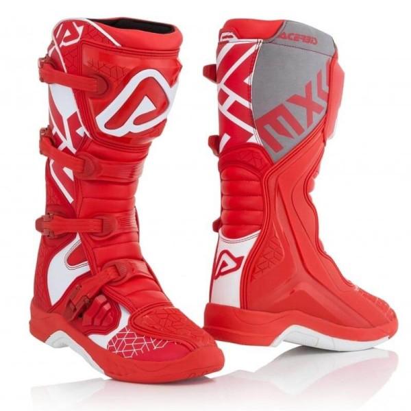 Bottes motocross Acerbis X-Team red white