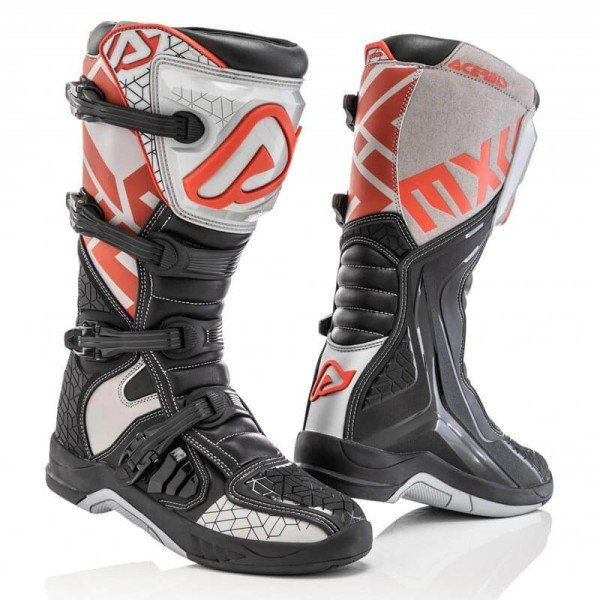 Motocross boots Acerbis X-Team black grey