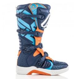 Motocross stiefel Acerbis X-Team blue orange