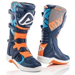Bottes motocross Acerbis X-Team blue orange,Bottes Motocross