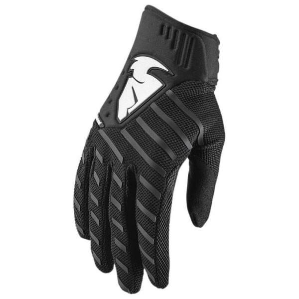 Motocross gloves Thor Rebound black