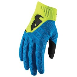 Motocross gloves Thor Rebound blue acid,Motocross Gloves