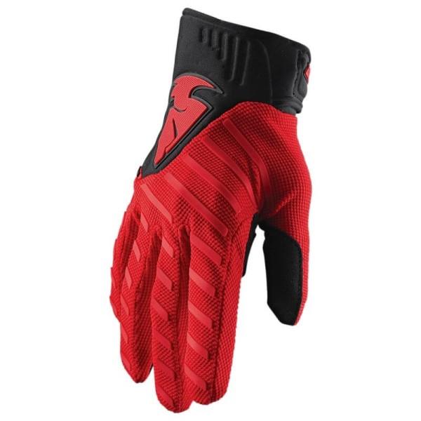 Motocross gloves Thor Rebound red black