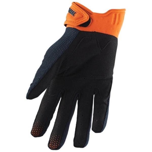 Motocross gloves Thor Rebound blue orange