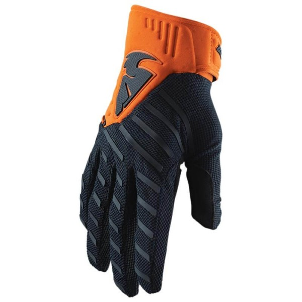 Motocross handschuhe Thor Rebound blau orange