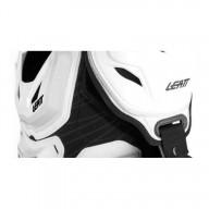 Plastron cross Leatt 5.5 pro white