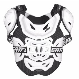Chest Roost motocross Leatt 5.5 pro white,Chest/Roost Protections Motocross