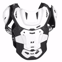 Pettorina cross Leatt 5.5 pro white,Pettorine Motocross