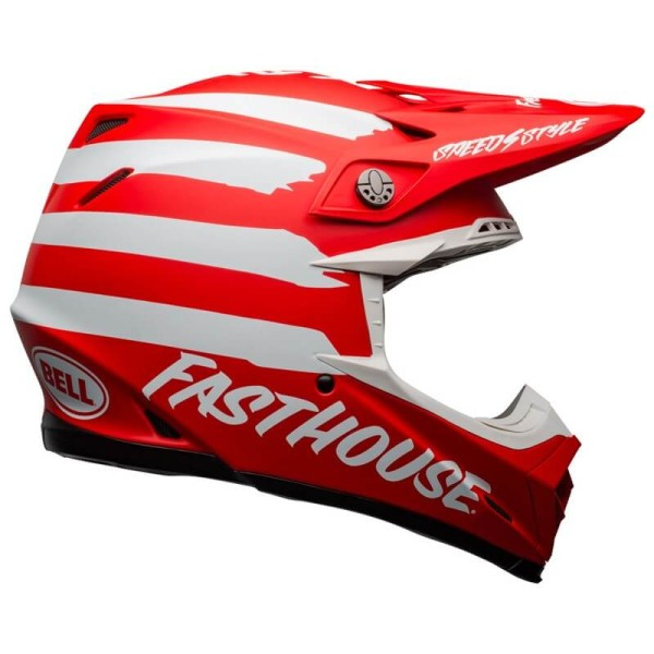 Motocross helm Bell Moto 9 Mips Fasthouse Signia red