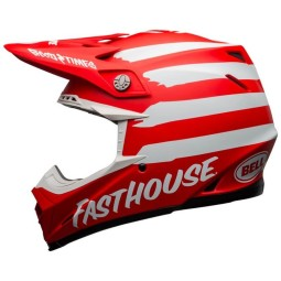 Casco motocross Bell Moto 9 Mips Fasthouse Signia red