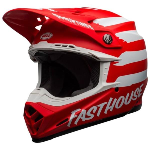 Motocross helmet Bell Moto 9 Mips Fasthouse Signia red