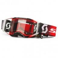 Lunettes Motocross Scott Prospect WFS Blanc Rouge