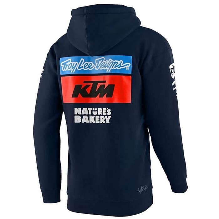 Troy Lee Design KTM Team Zip Hoody Kapuzenpullover Hoodie blau