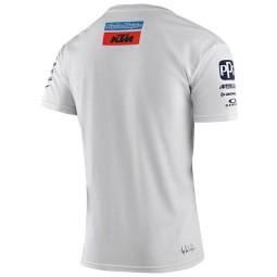 T-shirt Troy Lee Design KTM Team blanco,Camisetas