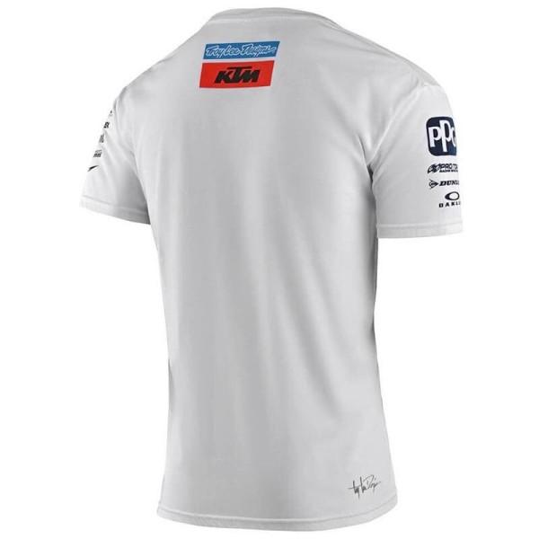T-shirt Ktm Troy Lee Design Team weiss