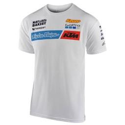 T-shirt Troy Lee Design KTM Team blanco