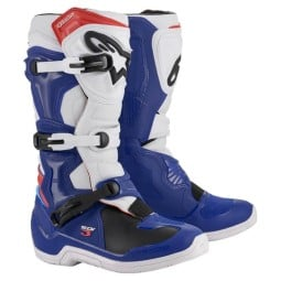 Motocross Boots Alpinestars Tech 3 blue white