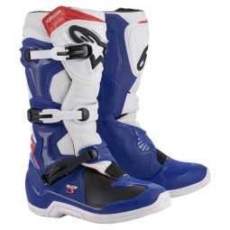 Stivali cross Alpinestars Tech 3 Blu Bianco