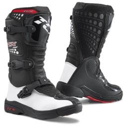 Botas minicross TCX Comp Kid negro blanco,Botas Motocross
