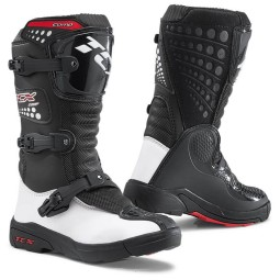 Minicross boots TCX Comp Kid black white