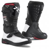 Bottes minicross TCX Comp Kid noir blanc
