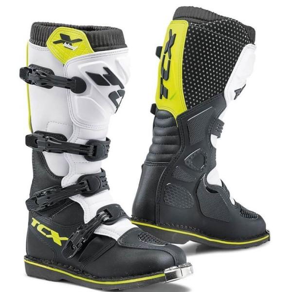 Bottes Motocross TCX X-Blast noir jaune