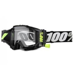 Lunettes motocross 100% Accuri Forecast Tornado noir,Masque et Lunettes Motocross