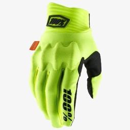 Gants motocross 100% Cognito jaune fluo