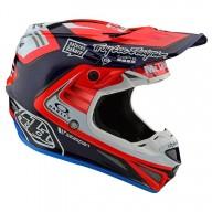 Motocross helm Troy Lee Design SE4 Carbon Flash Team Blue