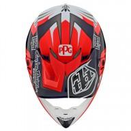 Casco de motocross Troy Lee Design SE4 Carbon Flash Team Blue