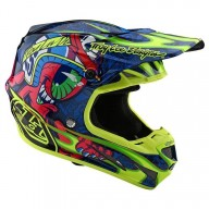 Motocross helm Troy Lee Design SE4 Composite Eyeball navy