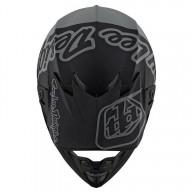 Motocross helm Troy Lee Design SE4 Composite Silhouette black