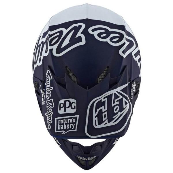 Motocross helm Troy Lee Design SE4 Composite Silhouette navy