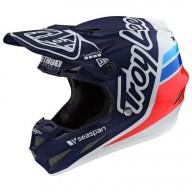 Motocross helmet Troy Lee Design SE4 Composite Silhouette navy