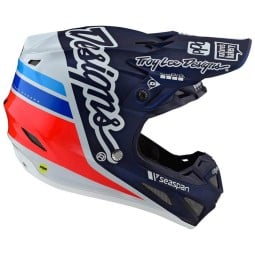 Casco cross Troy Lee Design SE4 Composite Silhouette navy,Caschi Motocross