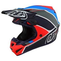 Casque cross Troy Lee Designs SE4 Polyacrylite Beta navy,Casques Motocross
