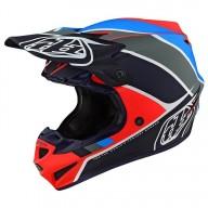 Casco de Motocross Troy Lee Designs SE4 Polyacrylite Beta navy